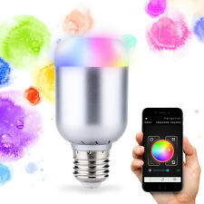 New Wireless Bluetooth Control Music Audio Speaker LED RGB Smart Bulb Light Lamp