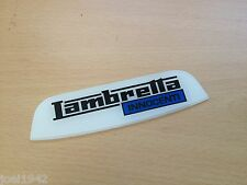 "LAMBRETTA LI  SERIES 3  REAR FRAME BADGE. INNOCENTI "" BLUE"" . BRAND NEW"