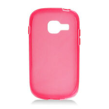 For Samsung Galaxy Centura S738C TPU CANDY Gel Flexi Skin Case Cover Frosted Red