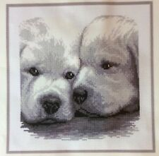 Puppy Dogs Vervaco Counted Cross Stitch Kit Buddies Black White Gray Belgium