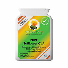 SAFFLOWER OIL 1000MG x 60 SOFTGELS PURE FATBURNER, ANTI AGEING, REDUCE BELLY FAT