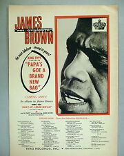 "James Brown PRINT AD - 1965 ~~ ""Papa's Got A Brand New Bag"""