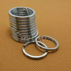 20X Split Keyring keychain Key Ring Loop Holder Clasps Keyfob Connector 20-35mm
