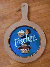 ChiediSconto! BIRRA FISCHER Targa Legno Brasserie 45x67 Bière Insigne Beer Sign