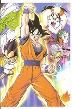 DRAGON BALL POSTER GOKU GOHAN VEGETA PICCOLO TRUNKS BULMA   21x14 CM NEW