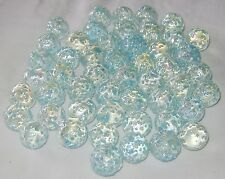 NEW 10 SNOWFLAKE 14mm GLASS MARBLES TRADITIONAL COLLECTORS ITEMS