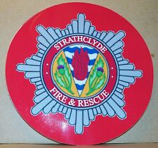 Strathclyde Fire and Rescue Service/Fire Brigade vinyl sticker personalised..