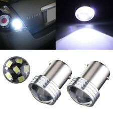 2P White 1156 6SMD Turn Signal Front Rear Light For Car Motorcycle Bulb Lamp