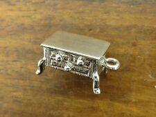 Vintage silver 3D ANTIQUE BEDROOM FURNITURE DRESSER DRAWER BRACELET charm