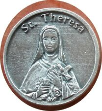 Saint St. Theresa (Therese of Lisieux) Holy Prayer Coin Token + Little Flower