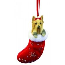 YORKIE Yorkshire Terrier Dog Santa's Little Pals Stocking Christmas Ornament