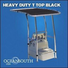 Heavy Duty Premium Boat T Top Black, For Standard Center Console, aluminum tube