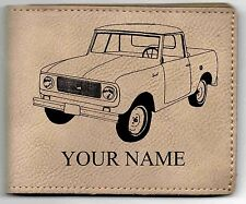 IH Scout Leather Billfold With Drawing and Your Name On It-Nice Quality