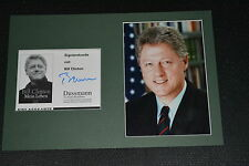 BILL CLINTON signed Autogramm In Person 20x30 Passepartout US PRÄSIDENT