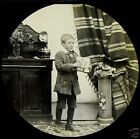 Glass Magic Lantern Slide VICTORIAN BOY NO2 C1890 VICTORIAN TALE