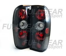 BLACK w/ CLEAR LENS ALTEZZA STYLE TAIL LIGHT SET FOR NISSAN FRONTIER 1998-2004