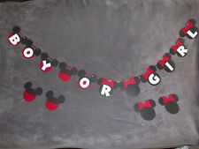 "Mickey & Minnie Mouse ""BOY OR GIRL"" Banner. Great for baby showers!!"