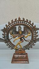 Lord Shiva as Nataraja Dancing Hindu God, Brass Statue