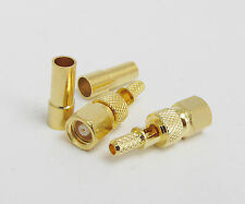 10pcs RF Connector SMC Female Crimp with Window for RG174 RG179 RG316 Cable