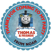 Personalised Scalloped Thomas the train  50mm Stickers Thank You Seals (15 nos)