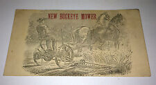 Rare Antique Victorian Buckeye Mower Farm Implements NY Advertising Trade Card!