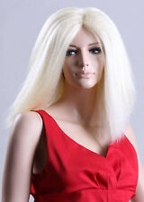 Ladies Long Blonde Wig With no Fringe. Amazing Fashion Hair!  With FREE WIG CAP