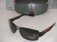 NEW PRADA SUNGLASSES PS 53NS 1BO5Z1 AUTHENTIC BLACK WITH GRAY POLARIZED 65MM NEW