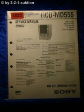 Sony Service Manual HCD MD555 Mini Component System (#4623)