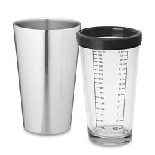 WILLIAMS SONOMA Stainless Steel & Glass Boston Shakers