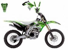 BLACKBIRD KAWASAKI KXF 250 2009 KIT GRAFICHE ADESIVI DREAM 3 GRAPHIC VERDI NERE