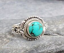925 Silver TURQUOISE Ring Sz Q 1/2-8.5 R669~Silverwave*uk Jewellery