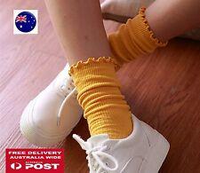 Women Girls Ankle Fancy Retro Cotton Ruffle frilly Loose Fashion Short Socks