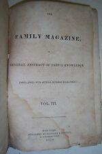 FAMILY MAGAZINE General Abstract of Useful Knowledge. VOLUME 3. 1836, engravings