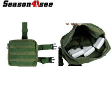 Molle Tactical Army Drop Leg Panel Utility Hunting Thigh Pouch Bag Olive Drab