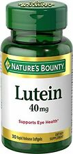 6 Pack - Nature's Bounty Lutein Softgels 40Mg 30 Each