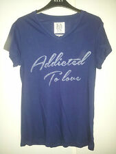 BNWT ZOE KARSSEN ADDICTED TO LOVE T-SHIRT TEE TOP SIZE XS UK 8 10