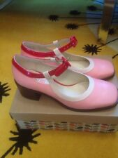Orla Kiely Clarks pink Amelia Shoes 6D New In Box