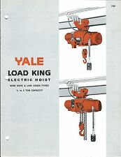MRO Brochure - Yale - Load King Electric Hoist - c1964 (MR117)