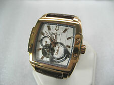BULOVA AUTOMATIC 97A103 MEN'S CASUAL WATCH 21 JEWELS R/G/P CASE WITTNAUER STRAP