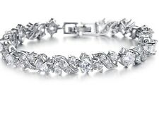 Bridal Crystal 18k Platinum Gold Plated Bracelet Christmas Gift High Quality