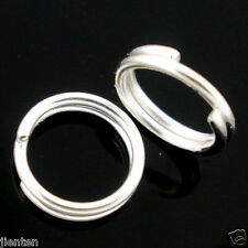 200Pcs Silver Stainless Steel Double Loop Split Open Jump Ring Connector 6mm