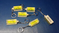 "6PC MINI POCKET LEVEL 1-1/2"" X 5/8"" WITH KEY CHAIN SNAP ON END HOBBY GIFT F-SHIP"