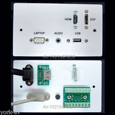 AV Aluminium Wall / Face Plate, VGA, Audio Jack, HDMI, Display Port, USB Sockets