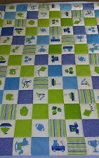 Handmade baby boy quilt
