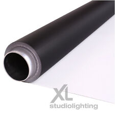2m x 8m White+Black Photographic Background Vinyl DUO - High / Low Key