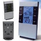 Digital Hygrometer Thermometer Temperature Humidity Meter Calender Clock Alarm