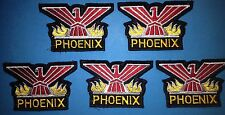5 Lot Rare 1970's Pontiac Phoenix Iron On Car Club Jacket Hat Patches Crests B