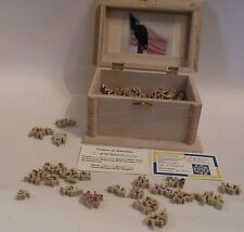 "L21  HAND CUT 2008 WOOD JIGSAW PUZZLE, 140 PC. ""Spirit of America"" intricate cut"