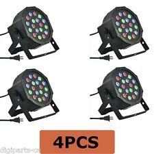 4PCS 4 Pack 18 3 in 1 RGB PAR LED DMX512 Disco DJ Stage Lighting (71-052X4PCS)