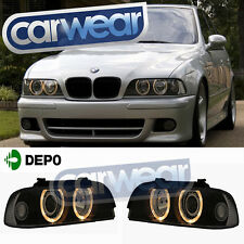 M5 STYLE BMW E39 5-Series Halogen Angel-Eyes Head Lights 523i 528i 535i 540i